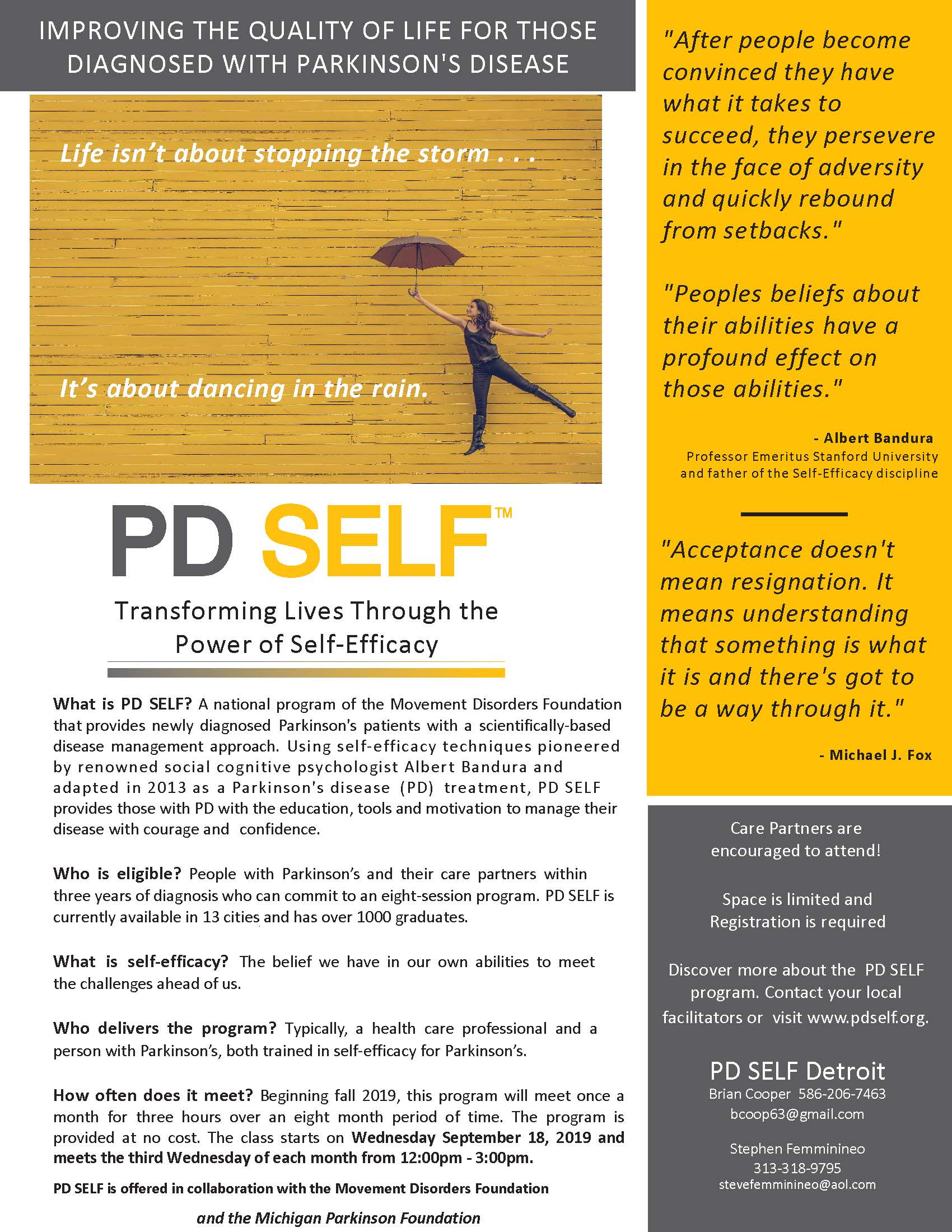 PD SELF Flyer Detroit 2019
